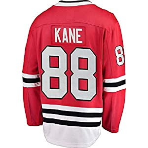 HEMWY Herren/Damen/Jugend_Patrick_Kane_#88_Rot_Sportbekleidung_Ausbildung_Eishockey_Jersey S-XXXL