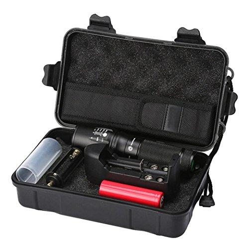 Sansee Licht Taschenlampe Set X800 Zoomable XML T6 LED Taktische Polizei Taschenlampe + 18650 Akku + Ladegerät + Gehäuse