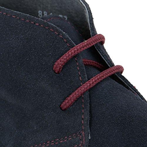 MARINA SEVAL by Scarpe&Scarpe - Chaussures à lacets avec queue d'aronde et fond ultra-léger, en Cuir Bleu