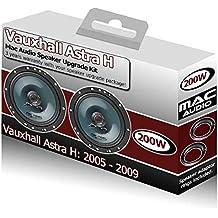 Opel Astra H Van Puerta Delantera Altavoces Mac Audio Altavoces de coche kit 200W Adaptadores