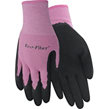 Red Steer eco-fiber 1151 de las mujeres guantes de trabajo de bambú respetuoso con el medio ambiente, color morado/negro o rosa/negro [precio es por par]