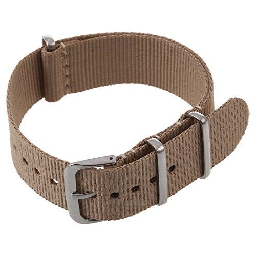 WOVELOT 20 mm Nylon Uhrenband Durchzugsband Uhrenarmband Uhren Armband Band Unisex Neu -