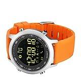kxcd Bluetooth Smart Watch EX18Bluetooth 4.0Smart Watch 5ATM wasserdicht kompatibel mit Android iOS System Smartwatch Schrittzähler Schwimmen Sleep Monitor Call SMS Reminder Armbanduhr.