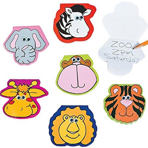re Notizen Notizblock Block Wackelaugen Mitgebsel Geburtstag Kindergeburtstag Kinderparty Geschenk (Zoo Tier)
