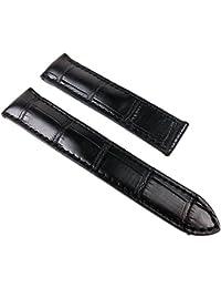 Maurice Lacroix Louisiana Ersatzband Kroko-Leder für Pontos Klemmschließe schwarz 22283K, Stegbreite:21mm
