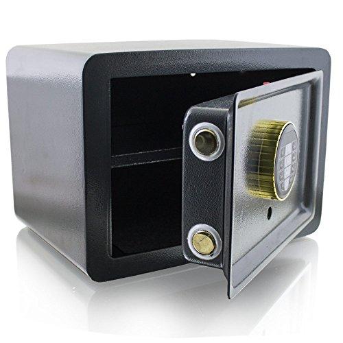 BITUXX Design Safe Tresor elektronisch Minisafe Wandtresor Wandsafe Schranktresor Geldschrank Möbeltresor Geldsafe (Grau)