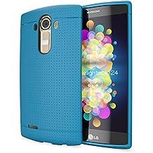 LG G4 Funda Carcasa de NICA, Protectora Movil TPU Silicona Fina Mesh Bumper Estuche con Puntos, Goma Gel Cubierta Cobertura Delgado Dot Cover Smartphone Case para Telefono LG G-4 - Azul