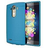 NALIA Handyhülle kompatibel mit LG G4, Ultra-Slim Case Softcover, Dünne Punkte Schutzhülle, perforierte Etui Handy-Tasche Back-Cover Bumper, TPU Smart-Phone Silikonhülle Hülle - Mesh Blau