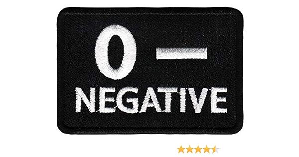 CONDOR O Rh Negativ BLUTGRUPPE PATCH Aufnäher Bestickt Schwarz #229O