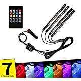 AutoBizarre 12 LED Multicolor Music Controlled Sound Activated for Car Interior Atmosphere Light (works with all cars)