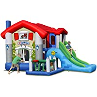 Duplay Bigger House 9 in 1 Bounce House Inflatable Castle with Slide and Ball Pool