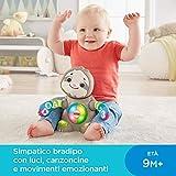 Fisher-Price- Parlamici Baby Bradipo Giocattolo Educativo con Luci, Multicolore, GHY90