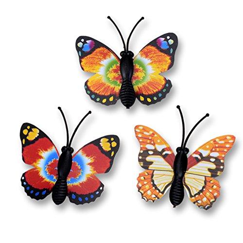 10 pz Mini Magnete Farfalla a Forma di Giardino Micro Paesaggio auto Frigorifero Sticker Ornamento Decorazione Casuale Color