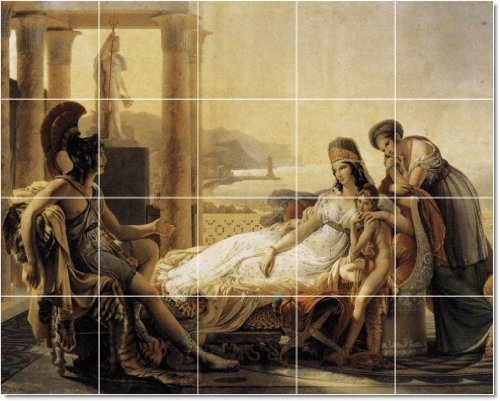 HISTORICO PIERRE NARCISSE GUERIN AZULEJO MURAL PISO REMODELACION DECOR  48 X 152 4 CM CON (20) 12 X 12 AZULEJOS DE CERAMICA