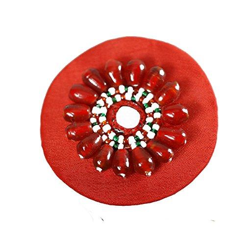 Neotrims Decorative Appliques Ribbons & FringesDamen Kleid, Rot - rot - Größe: 2 Pieces (Pair) -