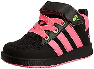 adidas Boy's Black and Pink Mesh Sneakers  - 2 UK/India (34 EU)
