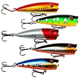 A-SZCXTOP Topwater Floating Fishing Lures Artificial Baits Bass Crankbaits Fishing Hooks Tackle