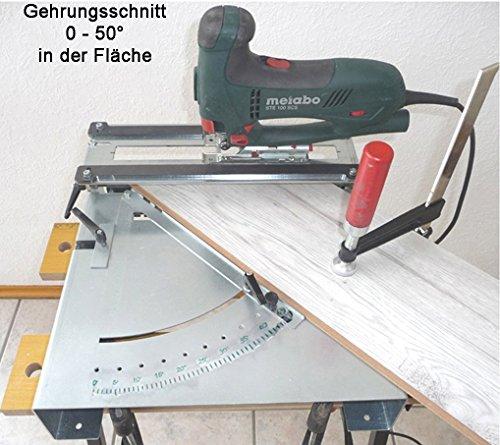 Stichsägetisch Trenn-Biber 012L+ Bosch Metabo Festool u. 3 lange Holz T-Schaft Stichsägeblätter für Stichsägen als Laminat Schneider, Sägestation - 6