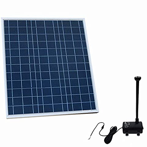ECO-WORTHY Solar Fountain Brushless Pool Water Pump Kit w/ 40W Solar Panel Garden Decor Feature