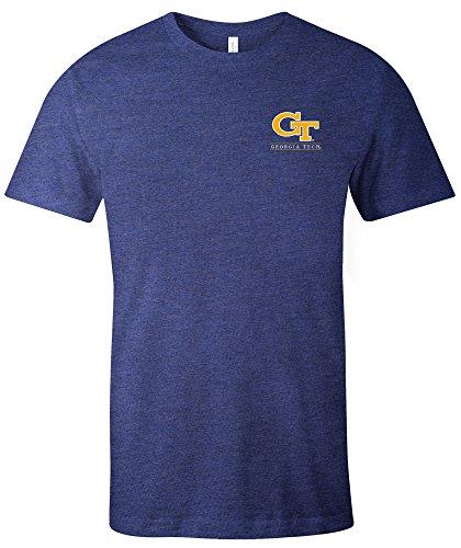 Image One NCAA einfach Maskottchen kurz Ärmel Triblend T-Shirt, unisex, 17004-165, navy, xxl -