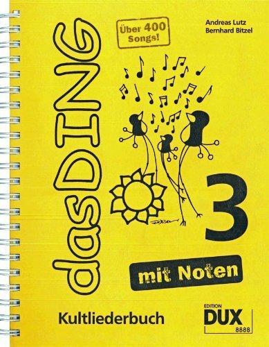 Das Ding 3 mit Noten: Kultliederbuch mit Noten und Akkordbezifferung von Bernhard Bitzel (26. März 2012) Musiknoten