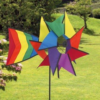 Windspiel - Windmill 77 RB - UV-beständig und wetterfest - Windräder: Ø40cm, Ruder: 40x26cm, Höhe: 110cm - inkl. Fiberglasstab von Colours in Motion - Du und dein Garten