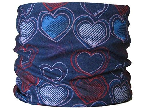 Multifunktionstuch Herzen auf Marineblau