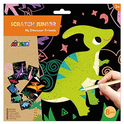 Avenir 6301675 Scratch Junior Dinosaur Friends - Raqueta de Tenis