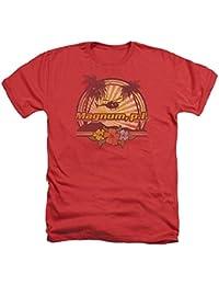 Magnum PI Hawaiian Sunset Mens Heather Shirt