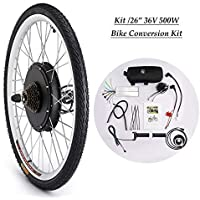 Sfeomi Elektrisches Fahrrad-Umbausatz 26 Zoll 36V 500W E-Bike Conversion Kit Elektro-Fahrrad Kit Ebike Elektrofahrrad…