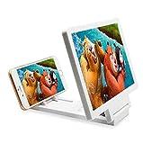 FZYQY 8.2'' Universal Bildschirm Vergrößerungsglas des Handys 3D,Movie Video Screen Amplifier Faltbarer Ständer für alle Arten von Mobiltelefonen(Weiß)