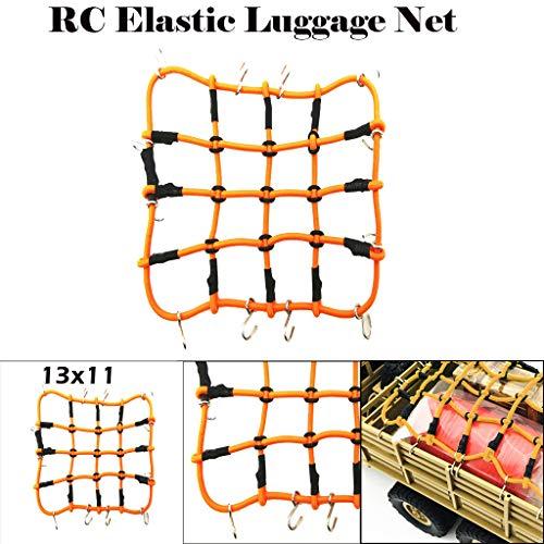 TAOtTAO 1/10 RC elastische Gepäcknetzfahrzeuge Crawler-Zubehör für RC4WD Axial SCX10 1:10 Kletterdach Gepäcknetz Dachgummikordel Zubehör großes Netz (13x11cm, B)