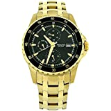 Accurist Gents Multi Dial Gold All Stainless Steel Bracelet Strap Watch MB937B