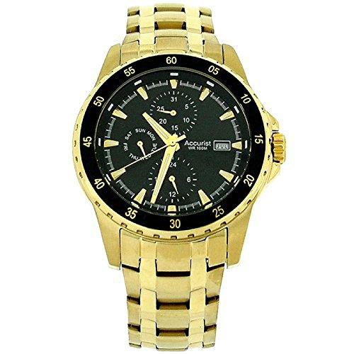 Accurist MB937B.01 - Reloj para hombres, correa de acero inoxidable color plateado