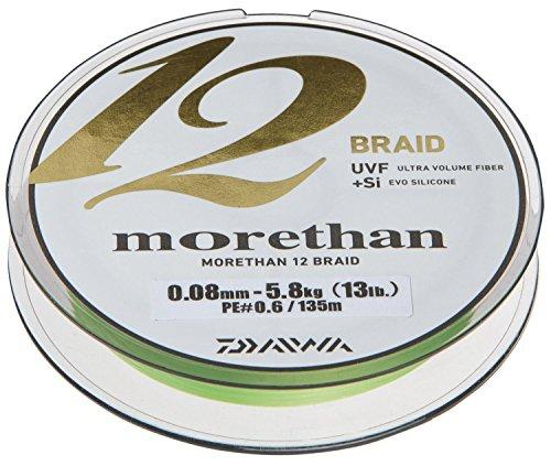 Daiwa Morethan 12 Braid 0.18mm, 16,2kg/36lbs 300m Lime green