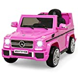 Mondial Toys Auto Macchina ELETTRICA Mercedes G65 AMG Fuoristrada per Bambini 12V con Sedile in Pelle Cintura di Sicurezza A 5 Punti Telecomando Pink