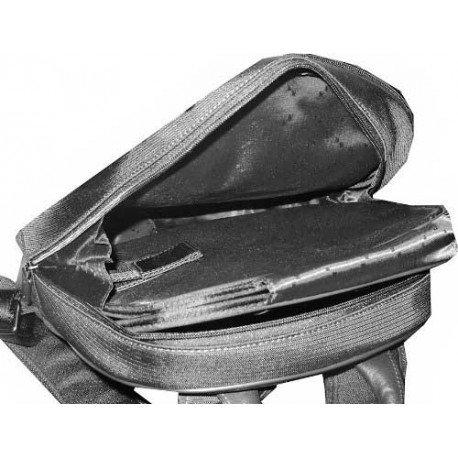 Charmoni-Zaino per la città, le bretelle regolabili in Nylon con secchiello in cuoio, nuovo Antibesm Nero