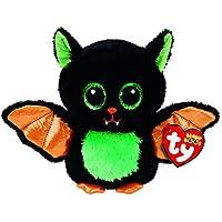 TY 37235 Beastie - Fledermaus Schwarz/Bunt, 15cm, mit Glitzeraugen, Glubschi's, Beanie Boo's, Halloween Limitiert