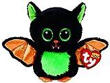 TY 37235 Beastie-Fledermaus schwarz/bunt, 15cm, mit Glitzeraugen, Glubschi's, Beanie Boo's, Halloween limitiert