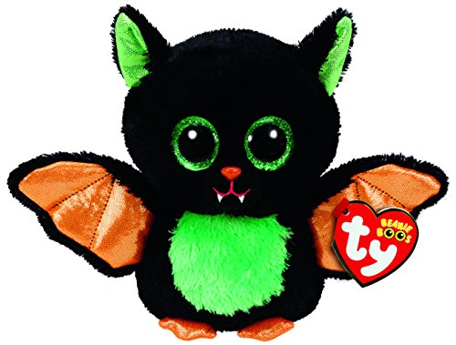 TY 37235 Beastie - Fledermaus Schwarz/Bunt, 15cm, mit Glitzeraugen, Glubschi's, Beanie Boo's, Halloween Limitiert (Beanie Große Runde Boo)