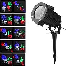 NuoYo Luz de la Dinámica de la Noche Proyector ,LED IP65 Proyector LED HD,Iluminación de Ambiente Modelo de Lámpara 10 de Humor para Halloween, Navidad y Otras Fiestas.