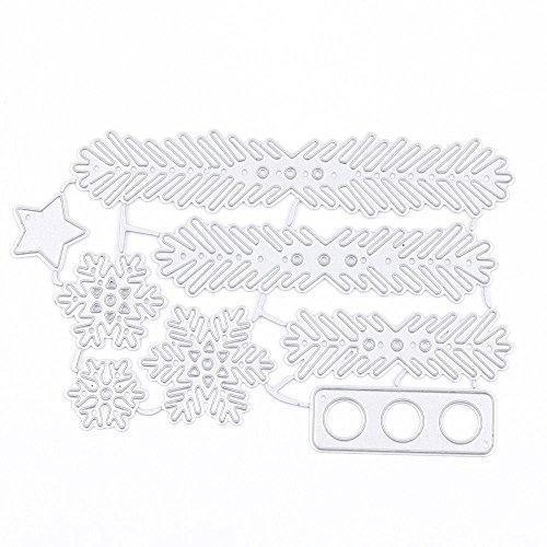 (MAXGOODS Metall Weihnachtsbaum Kranz Stanzformen Schablone Scrapbook DIY Papier Handwerk Nizza)