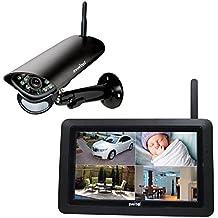Switel HS2000 Digitales HD-Funküberwachungssystem, Außenkamera. Großer Touch-Screen, Videoaufzeichnung, Alarmfunktion, Nachtsicht