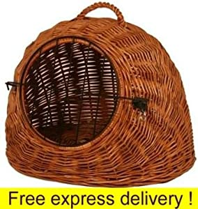Luxury Wicker Cat Carrier Travel Basket House Igloo Dome. Code 01063 by Gadsby