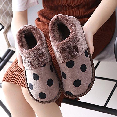 Confortable Pantoufles pour hommes Chaussures chaudes antidérapantes pour lhiver Chaussures dintérieur pour lintérieur Sacs avec chaussures 2 couleurs disponibles Taille en option Augmenté ( Couleu B