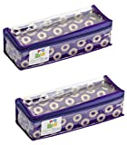 HomeStrap Single Rod Brocade Bangle Box - Purple - Pack of 2