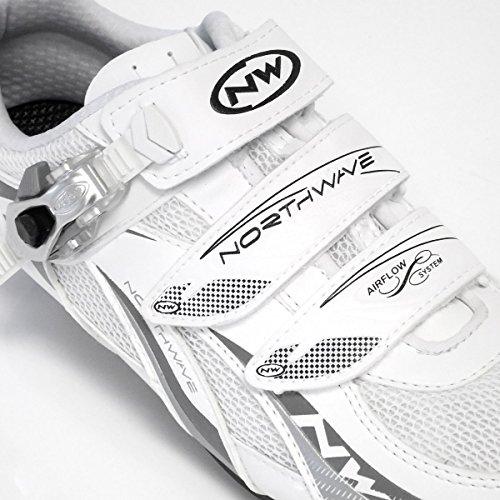Northwave fighter s.b.s. per bici da corsa scarpa Bianco/Argento 2013 bianco