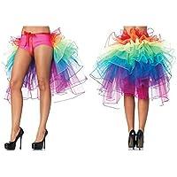 Falda arco iris Vestido de cinturón de cinta 8 capas de Vivid Clubwear Disfraz burlesco de lujo Falda de tono de tul para mujeres Rara Chicas En fiesta y espectáculo 1 tamaño