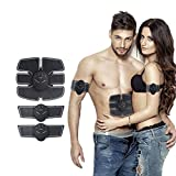 #7: New EMS Abdominal Muscle Exerciser Trainer Smart ABS Stimulator Fitness Gym ABS Stickers Pad Body Loss Slimming Massager Unisex