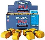 KARAKAL - PU Super Grip - selbstklebendes Griffband für Badminton, Squash, Tennis, Hockeyschläger oder Eisstock -  Gelb 5er